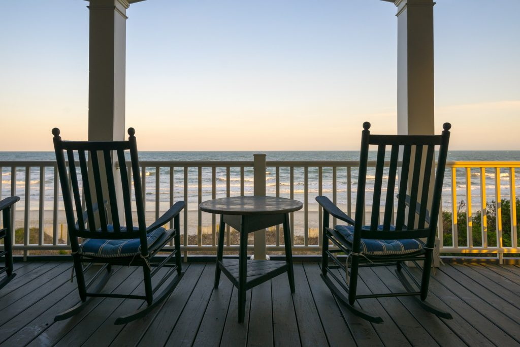 View of the water from your Litchfield Beach vacation home
